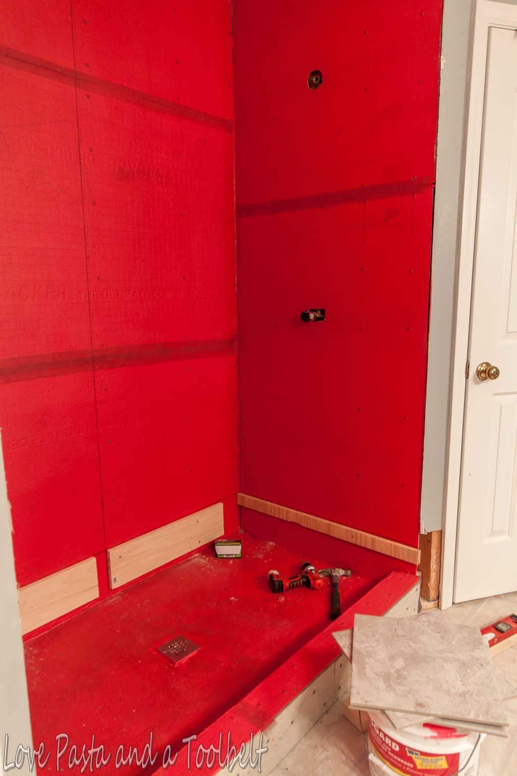 Diy Tile Shower Before And After Love Pasta And A