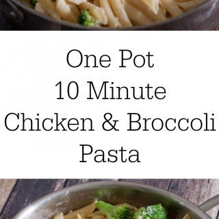 AD: Make dinner easy with this One Pot 10 Minute Chicken & Broccoli Pasta- Love, Pasta and a Tool Belt | one pot | pasta | pasta recipes | recipe ideas | easy dinner idea | food | #EverydayEffortless