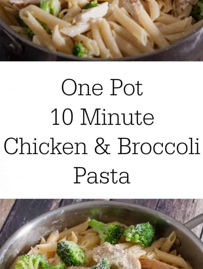 AD: 10 Minute Chicken & Broccoli Pasta