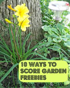 10 Ways to score garden freebies