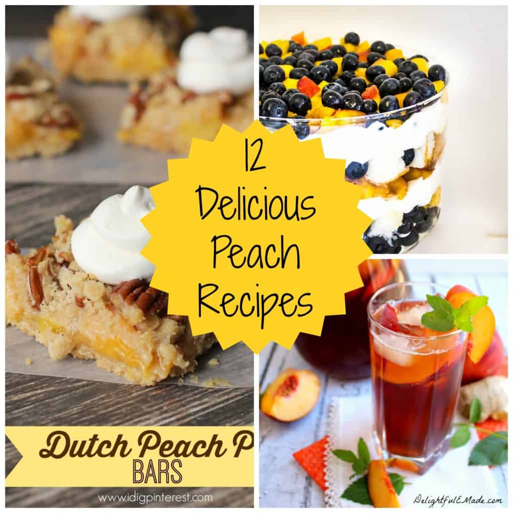 12 Delicious Peach Recipes- Love, Pasta and a Tool Belt