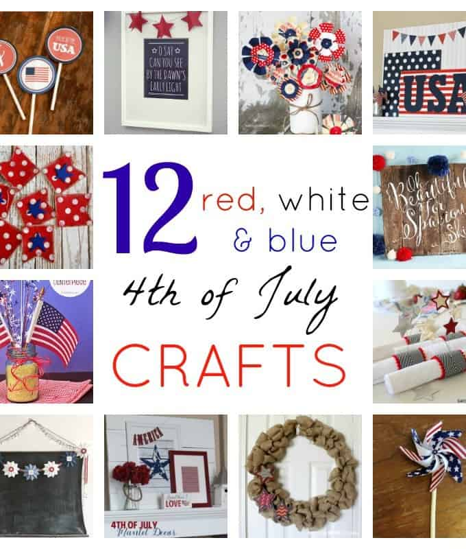 12 Red, White and Blue Crafts