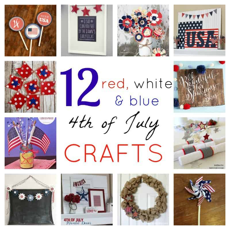 Decorate for the 4th of July with one of these 12 Red, White and Blue Crafts- Love, Pasta and a Tool Belt | DIY | Patriotic | Crafts |