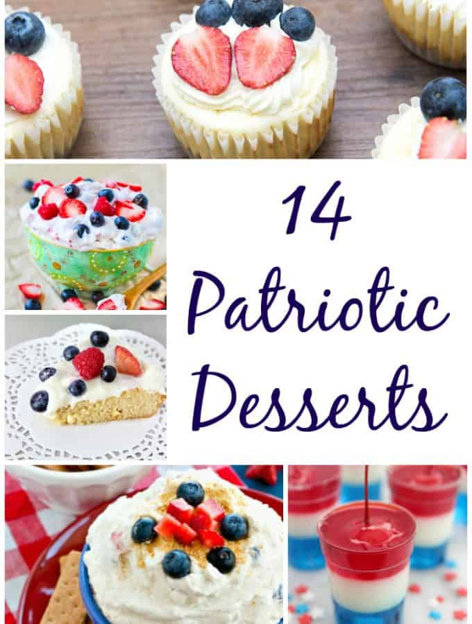 Celebrate America with one of these 14 Patriotic Desserts- Love, Pasta and a Tool Belt | July 4th | Patriotic | America | Desserts | Recipes |