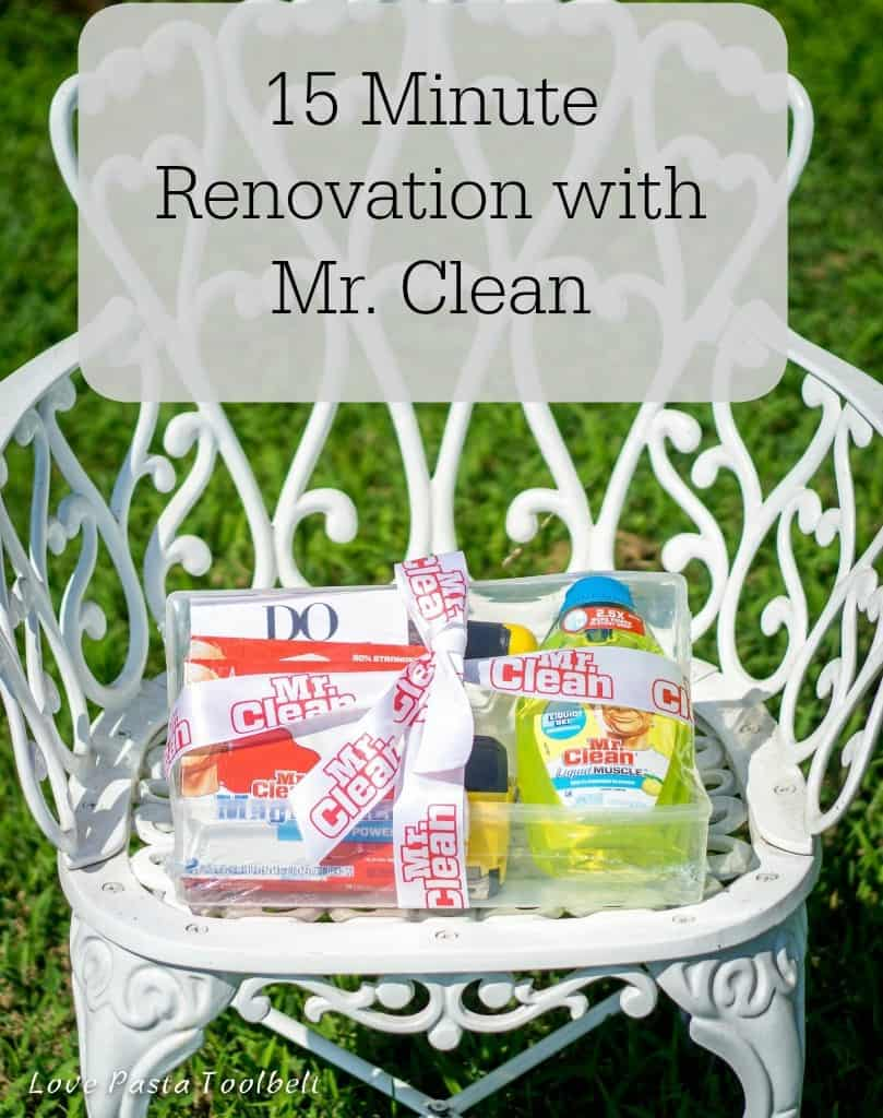 Get your house ready to showcase with a 15 Minute Renovation with Mr. Clean- Love, Pasta and a Tool Belt #15MinReno #ConnectMrClean #spon