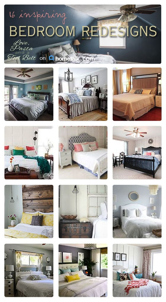 16 Inspiring Bedroom Redesigns- Love, Pasta and a Tool Belt