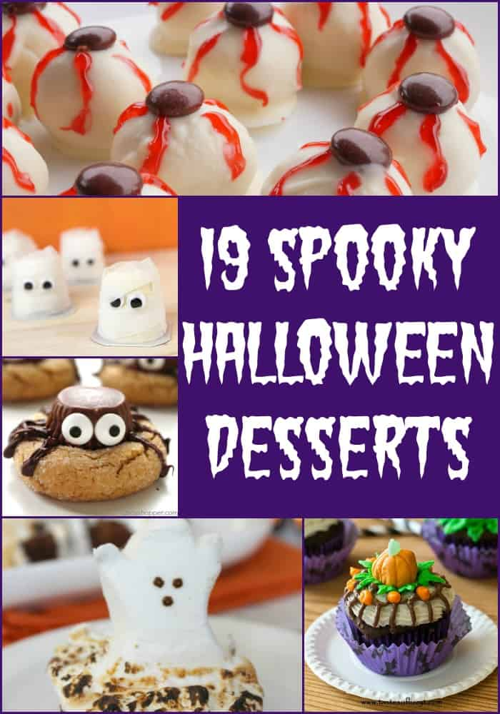 Get ready for your Halloween parties with these 19 Spooky Halloween Desserts- Love, Pasta and a Tool Belt | Halloween | Desserts | Treats | Party Ideas |