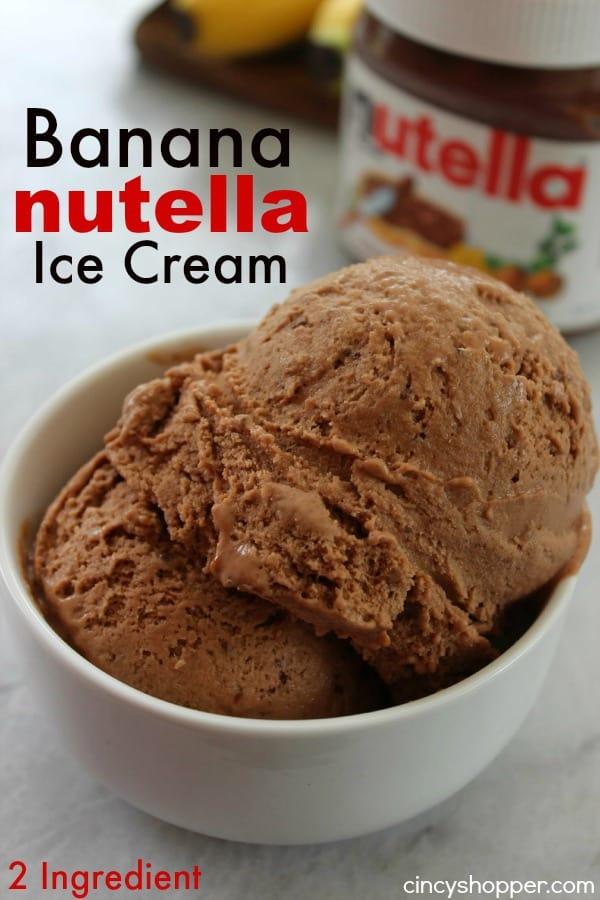 2 Ingredient Banana Nutella Ice Cream 1