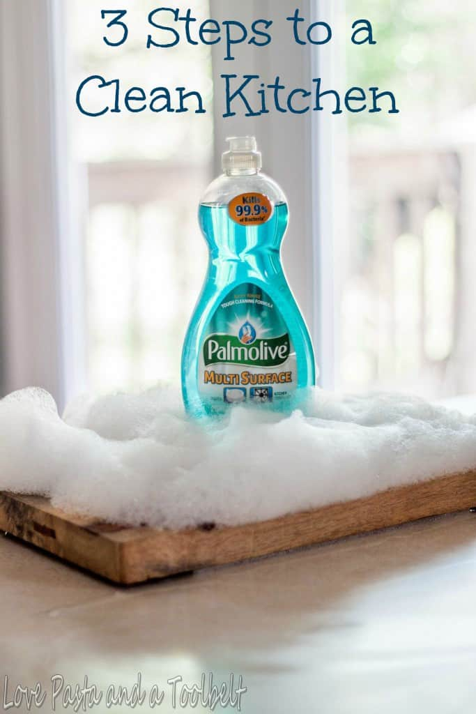 3 Steps to a Clean Kitchen- Love, Pasta and a Tool Belt #PalmoliveMultiSurface #Ad | cleaning | clean | cleaning tips | kitchen |