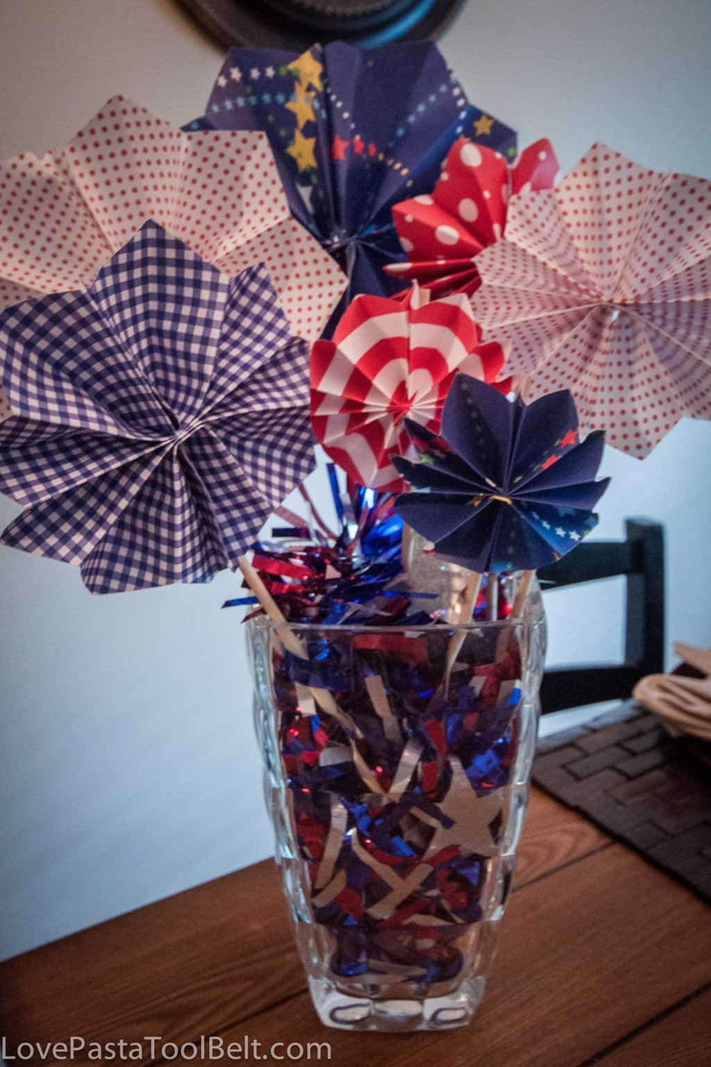 Paper Fireworks Centerpiece- Love, Pasta and a Tool Belt