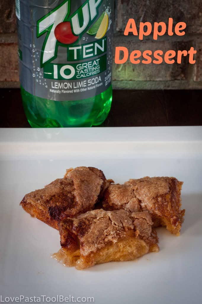 This 7Up TEN Apple Dessert is an easy recipe and delicious! - Love, Pasta and a Tool Belt #drinkTEN #shop | recipes | desserts | apples | food |