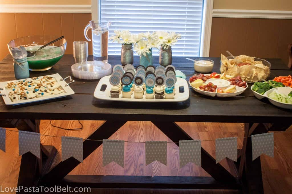 Blue and Gray Baby Boy Shower Ideas, great DIY ideas for a baby shower - Love, Pasta and a Tool Belt | baby shower | baby boy | boy shower | shower | blue baby shower|