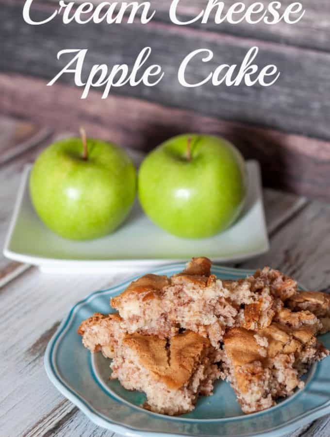 Cream Cheese Apple Cake- Love, Pasta and a Tool Belt | apples | recipes | cake | desserts | baking | cream cheese |