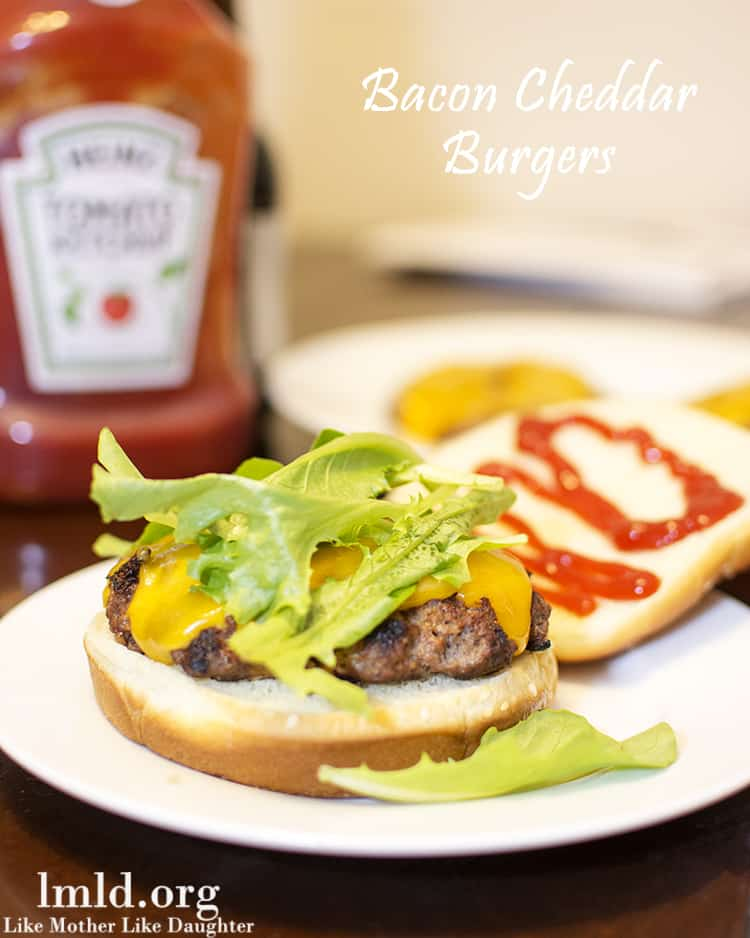 Bacon Cheddar Burgers from Like Mother Like Daughter
