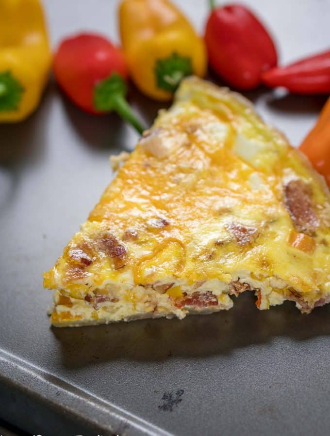 Bacon and Bell Pepper Quiche