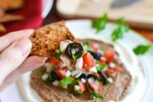 Black Bean Hummus Taco Dip