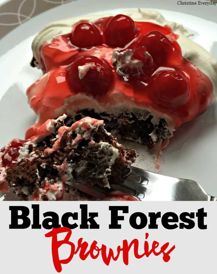 My guest poster Christine is sharing a delicious dessert recipe for Black Forest Brownies- Love, Pasta and a Tool Belt | cherries | brownies | chocolate | cool whip | desserts | sweets |