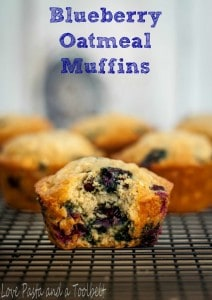 Blueberry Oatmeal Muffins- Love, Pasta and a Tool Belt   muffins   breakfast   snacks   blueberry   oatmeal   recipes  