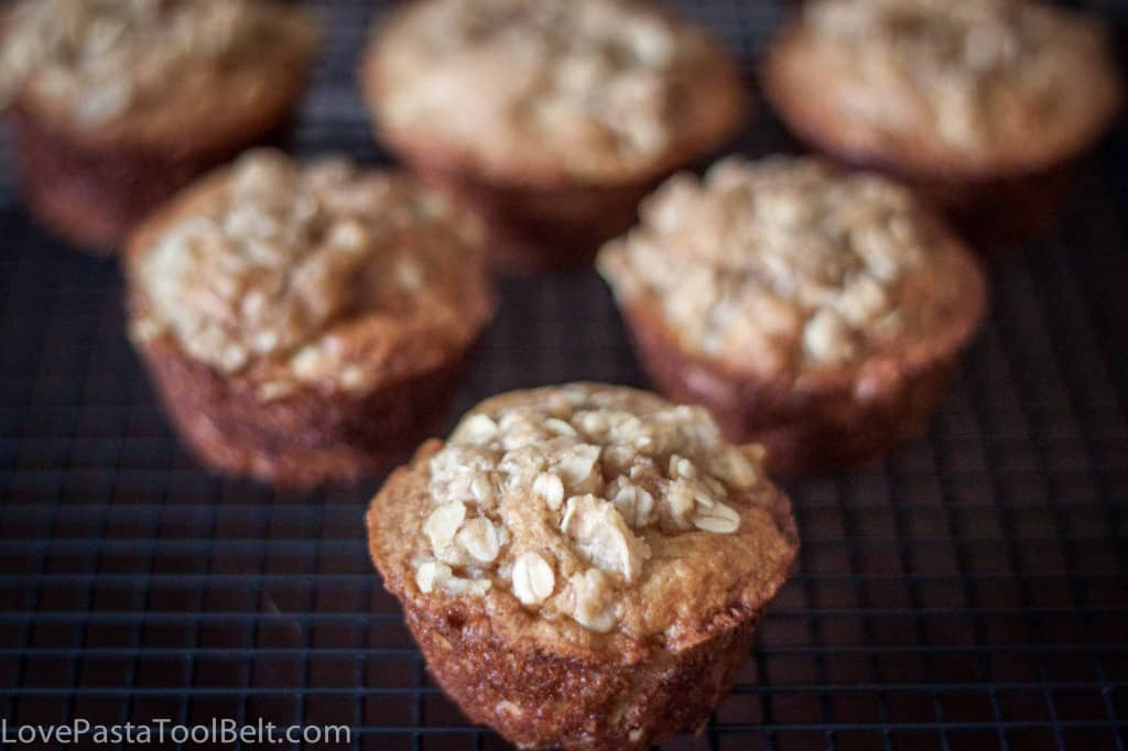 Brown Sugar Apple Muffins- Love, Pasta and a Tool Belt #muffins