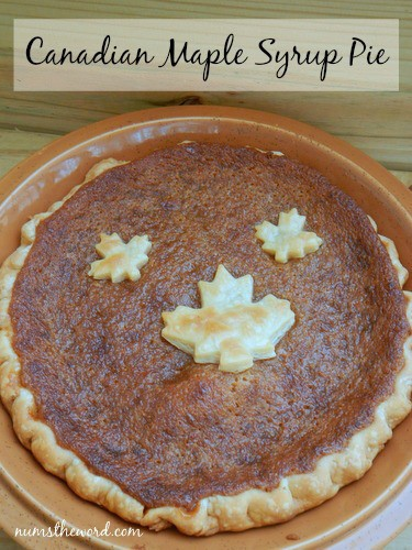 12. Canadian Maple Syrup Pie from Num's the Word