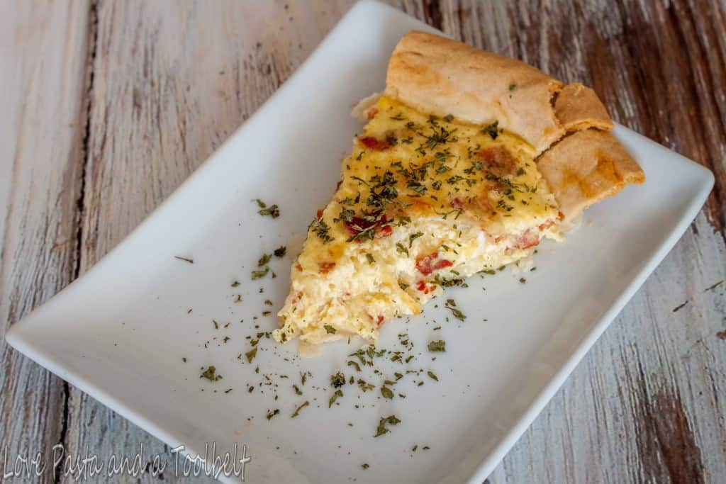 Cheese and Bacon Quiche- Love, Pasta and a Tool Belt | breakfast | quiche | recipes | brunch | bacon |