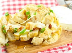Cheesy Bacon Pull Apart Bread