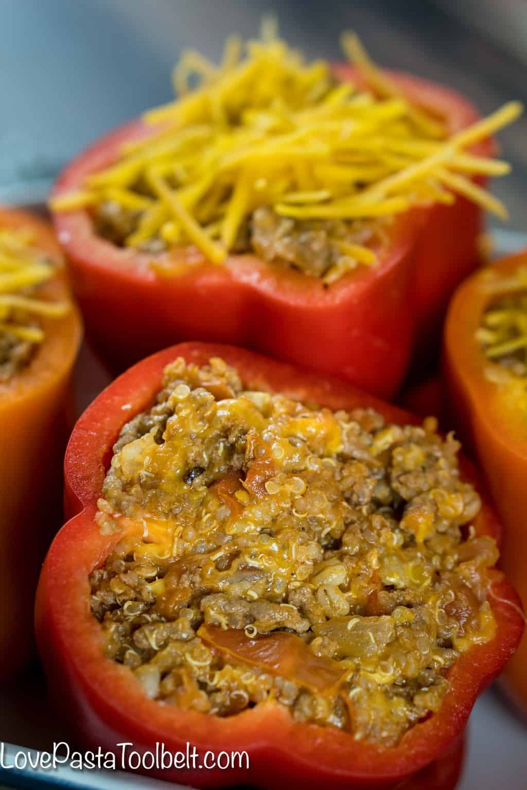 Cheesy Quinoa Stuffed Bell Peppers Beef Tomatoes Bell Pepper Dinner,Crochet Headband Size Chart