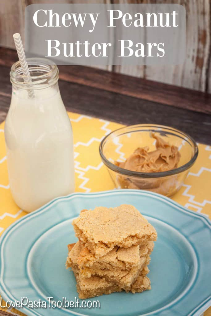 Chewy peanut butter bars love pasta and a tool belt for Easy sweet treats with peanut butter