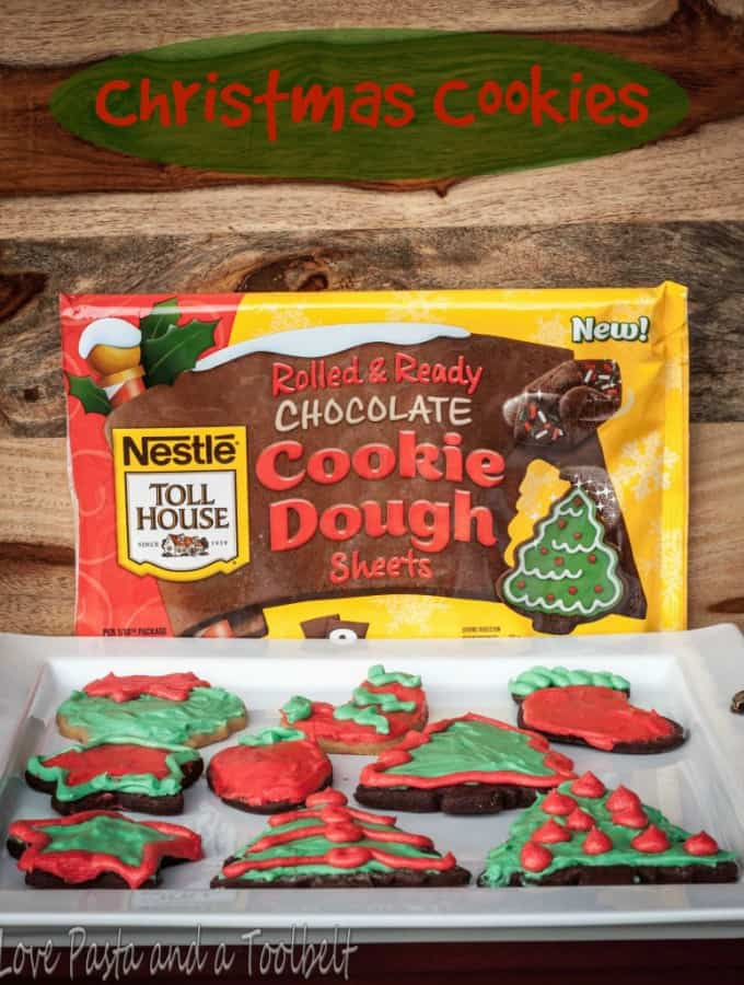 Christmas Cookies with Nestle Toll House Cookie Dough