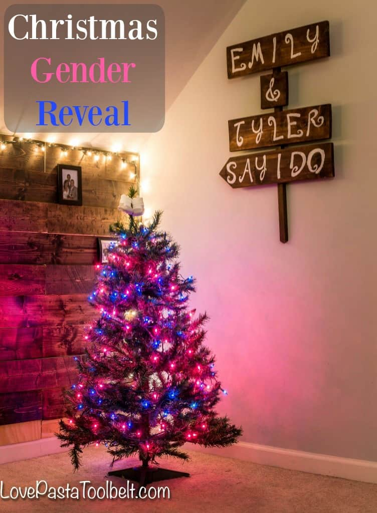 Christmas Gender Reveal Love Pasta And A Tool Belt