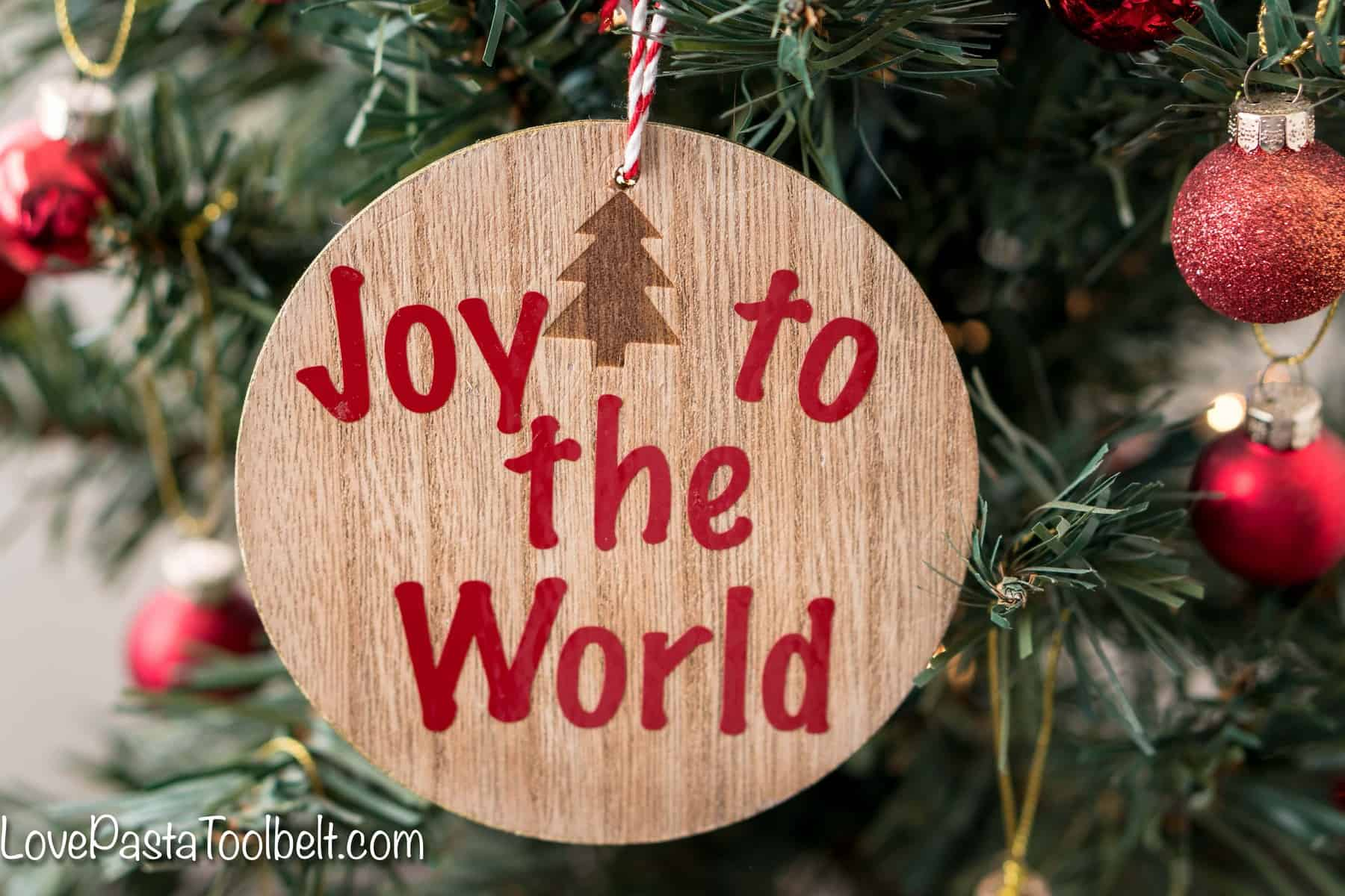Christmas Song Coaster Ornaments - Love, Pasta, and a Tool Belt