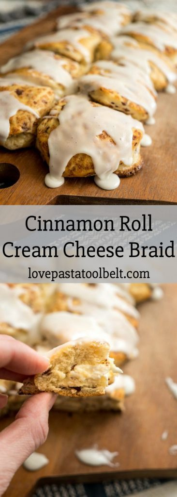 Forget the hard work for a delicious breakfast and make it easy with this Cinnamon Roll Cream Cheese Braid