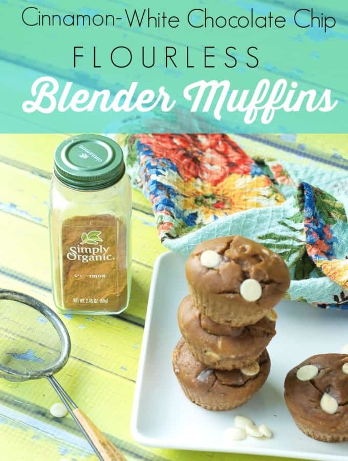Cinnamon-White Chocolate Chip Blender Muffins