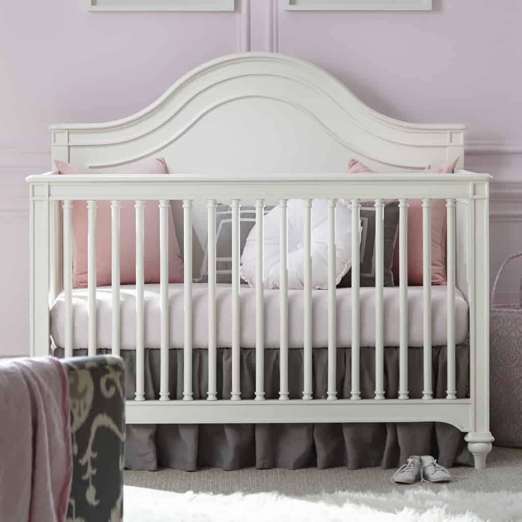 Pink gray nursery inspiration love pasta and a tool belt crib arubaitofo Choice Image