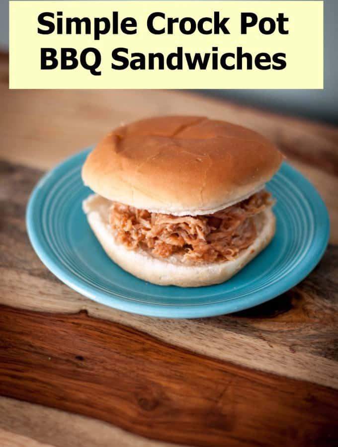 Simple Crock Pot BBQ Sandwiches