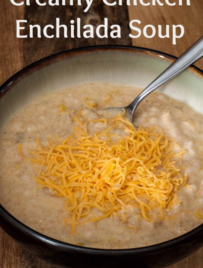 CrockPot Creamy Chicken Enchilada Soup