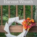 Get ready for fall with this DIY Burlap Harvest Wreath!- Love, Pasta and a Tool Belt | DIY | crafts | wreaths | wreath ideas | Fall decor | fall craft ideas |