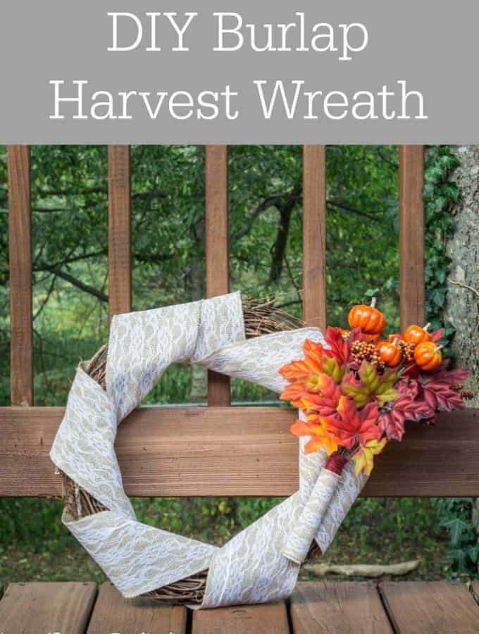 DIY Burlap Harvest Wreath