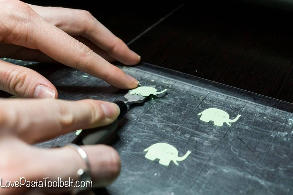 Add a cute craft to your party planning with these DIY Cupcake Toppers- Love, Pasta and a Tool Belt #ad #LifeinaBetterLight @Ottlite | craft | Party Ideas | Silhouette project | party decor | craft ideas |