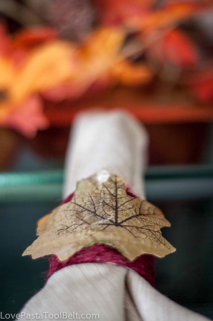 Diy fall napkin rings love pasta and a tool belt for Diy fall napkin rings