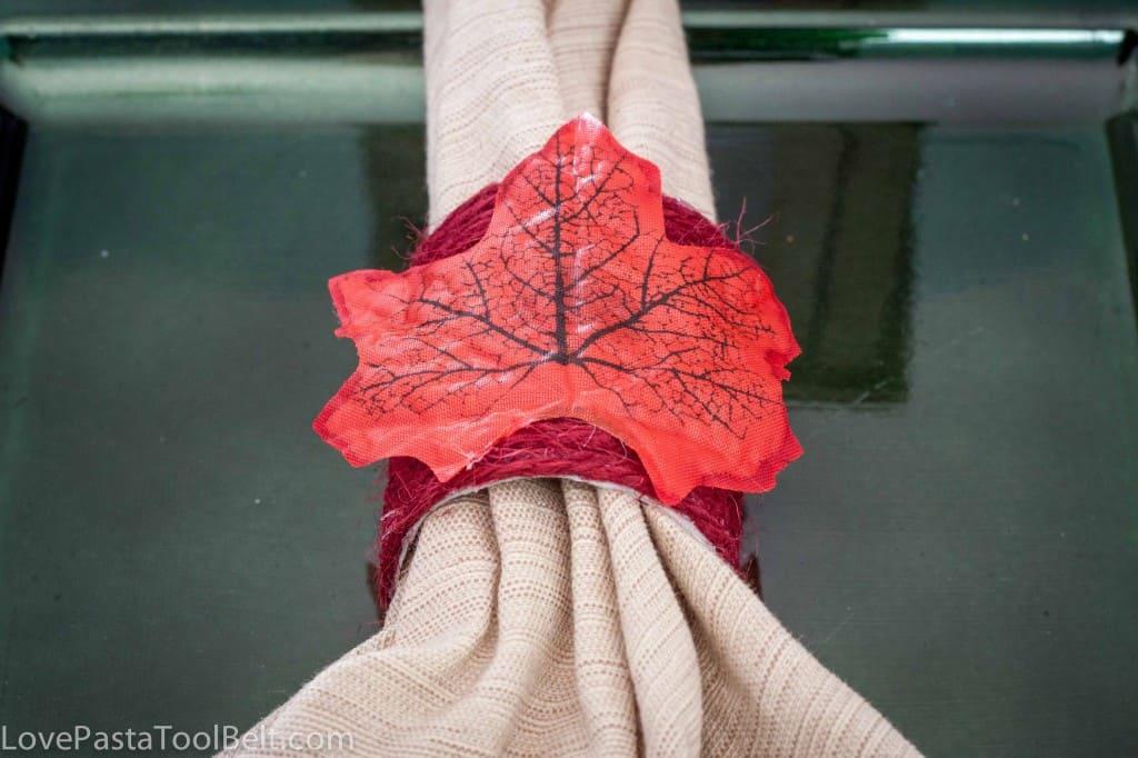 DIY Fall Napkin Rings- Love, Pasta and a Tool Belt #DIY #Fall
