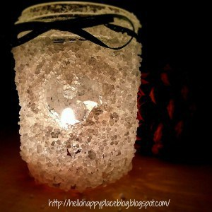DIY Frosted Christmas Candles