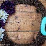 DIY Initial Wreath- Love, Pasta and a Tool Belt
