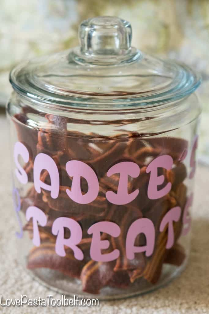 Give your pet a little extra love with this DIY Personalized Dog Treat Jar #ToPetsWithLove #ad