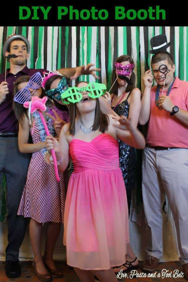 DIY Photo Booth- Love, Pasta and a Tool Belt