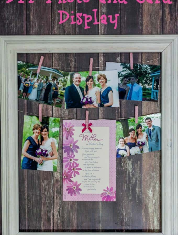 DIY Photo and Card Display