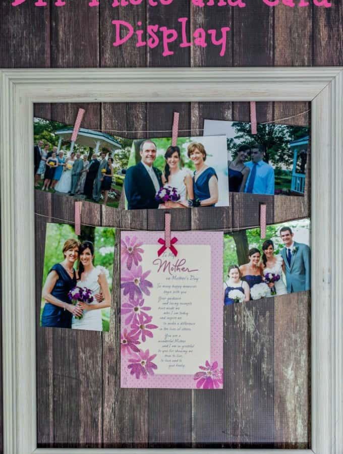 DIY Photo and Card Display