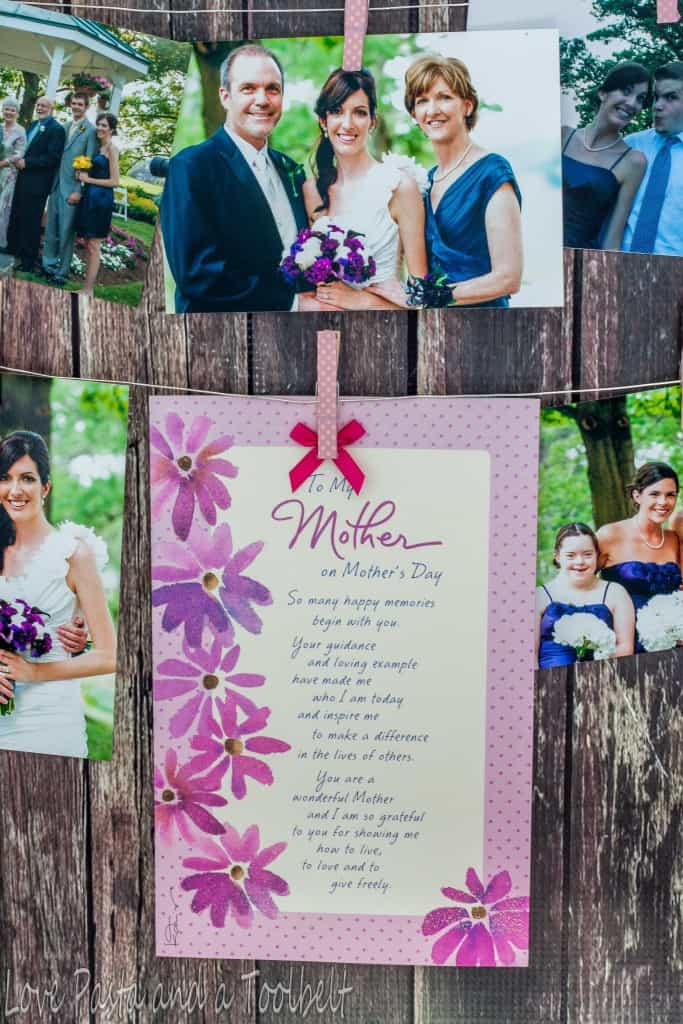 DIY Photo and Card Display- Love, Past and a Tool Belt #ad #BestMomsDayEver | DIY | DIY craft | craft ideas | photos | Photo display |