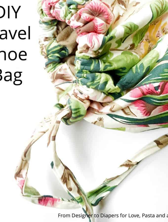 DIY Travel Shoe Bag
