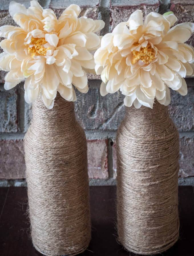 DIY Twine Vases- Love, Pasta and a Tool Belt #DIY